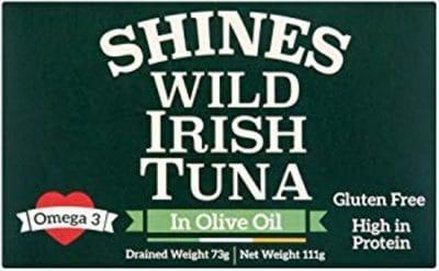 Wild Irish Tuna Tin In Olive Oil Tin 111g Gluten Free