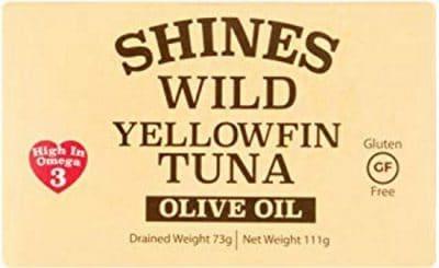 Shines Wild Yellow Fin Tuna In Olive Oil Tin 111g