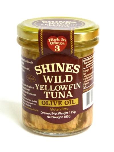 Shines Wild Yellowfin Tuna In Olive Oil 185g
