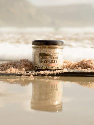Smoked Sea Salt in Atlantic Sea at Achill Island