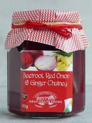 Gran Grans Beetroot Red Onion and Ginger Chutney