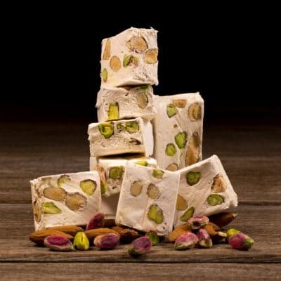 Almonds & pistachio nougat bars