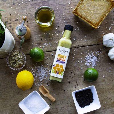 Berna's Dressing - Honey & Mustard Dressing On Table Top