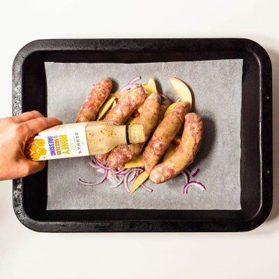 Berna's Dressing - Honey & Mustard Dressing with Sausages