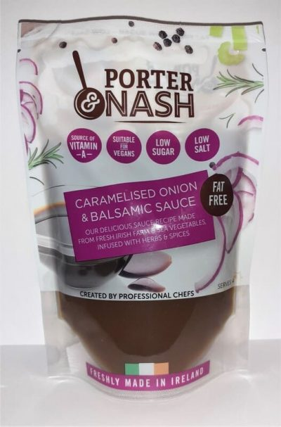 Porter & Nash Caramelised Onion and Balsamic Sauce and is suitable for vegans